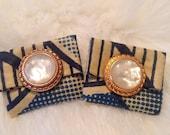 Fabric Clutch Earrings (Sale Item)