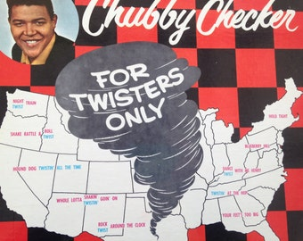 Chubby Checker - For Twisters Only - vinyl record