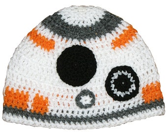Star Wars Inspired Hand Crocheted BB-8 Hat HH183