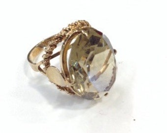 9ct gold smoky quartz ring