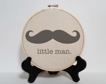 Little man mustache print