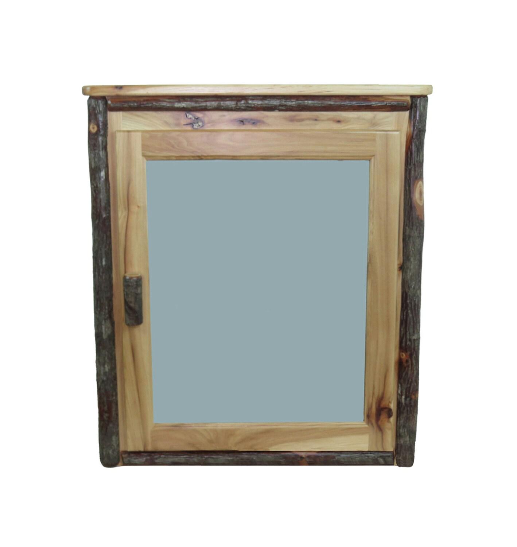 Rustic hickory medicine cabinet - Hickory medicine cabinet with mirror ...