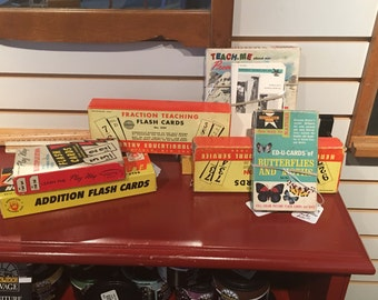 Vintage Flash cards Addition/Subtraction Multiplication/Division