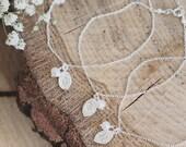 Set of 123456 personalised sterling silver bridesmaid bracelets freshwater pearl bridesmaid gift monogram jewelry leaf simple