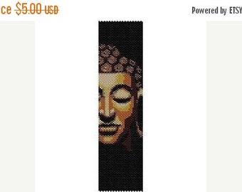 SALE HALF OFF Instant Download Beading Pattern Peyote Stitch Bracelet Buddha Face Seed Bead Cuff