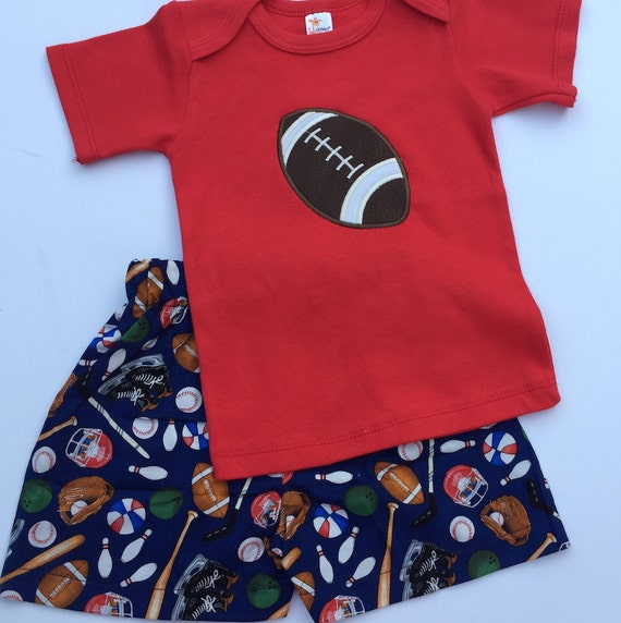 Baby Boy Football Outfit Boxer Shorts Vinyl Bib Boys Shorts