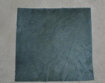 "Slate Blue/Green Leather Hair on Cow Hide 12"" x 12"" Pre-cut TA-35658 (Sec. 1,Shelf 6,D)"