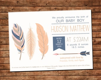 Tribal Birth Announcement