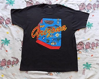 Vintage 80's Arizona state T shirt, size Large by Screen Stars soft and thin Truck Stop souvenir