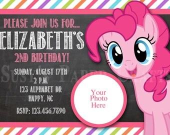 MLP Pinkie Pie Birthday Invitation, Digital File, You Print