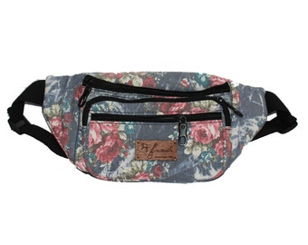 Grandma's Couch Denim Fanny Pack Bum Bag