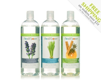 Natural Cleaner (Variety Pack) REFILLs - Natural Cleaning Products - Natural Cleaning - Plant Based Cleaning - Essential Oils