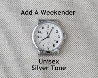 Add a Timex Unisex Weekender Watch Face, Silver Tone