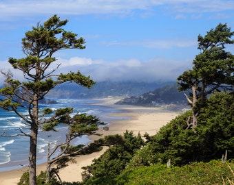 Oregon Coast Photograph, Ecola State Park, Cannon Beach Print, 8x10, Wall Decor, Pacific Northwest, Vista, Fine Art Print, Canvas, Metal