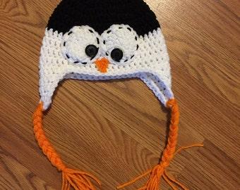 Crochet Penguin Hat! All sizes!