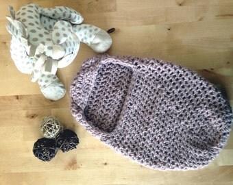 Crochet newborn pod, baby bowl, baby nest, cocoon