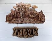 Elk Welcome Sign ~ Rustic...