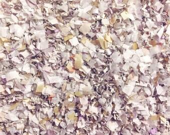 Winter Wonderland Confetti Biodegradable White Grey Mauve Vintage Wedding Christmas Baby Shower Decor InsideMyNest