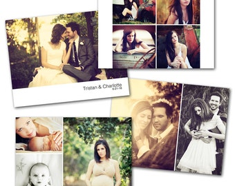 5x7 Wood Photo Box Template Set by Photographer Cafe