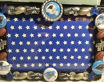 Carolina Panthers Button Picture Frame