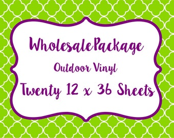 Wholesale Package for Lilly Inspired or Any Other Patterned Craft Vinyl and Heat Transfer Vinyl // Any Patterns in our Shop!!
