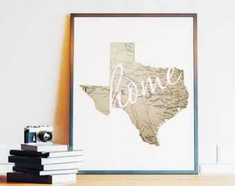 Ordinaire Texas Wall Art | Etsy