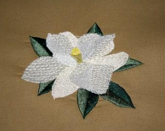 Magnolia 4x4 Hoop machine embroidery