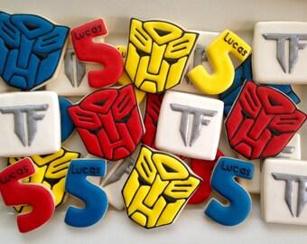 Transformer Birthday Cookies