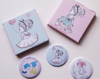 Bag Mirrors with my illustrations