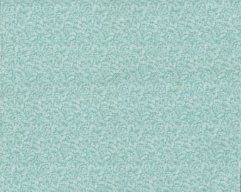 Floral Quilt Fabric - Minty Green Packed Flowers - Peter Pan Fabrics - OOP - BTHY