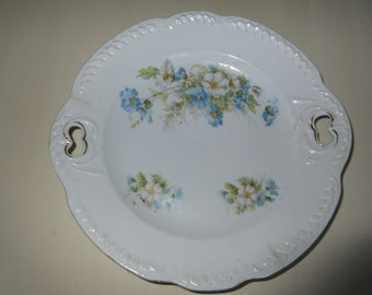ANTIQUE SERVING PLATE with Handles