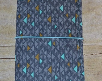 "JADori ""Triangles"" Traveler's Notebook Fabric Fauxdori - Size Small"