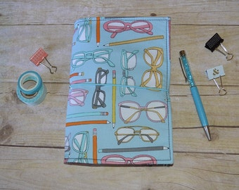 "JADori ""Eyeglasses"" Traveler's Notebook Fabric Fauxdori Dori"
