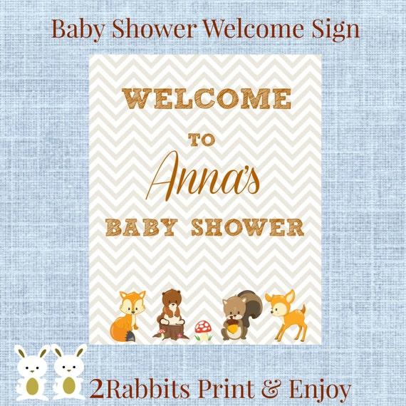 baby shower welcome sign personalized baby shower welcome sign