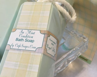 In Mint Condition~Soap On A Rope Gift for Him or Gift for Her Handmade Soap with Royal Jelly