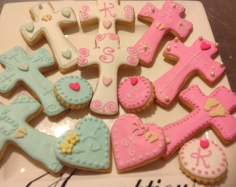 20 Baby Boy or Girls iced Christening Cookies..