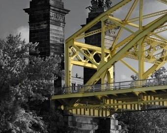 16 street bridge from the river, Pittsburgh, Pennsylvania