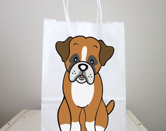 Puppy Goody Bags, Dog Goody Bags, Puppy Favor Bags, Dog Favor Bags - Boxer Goody Bags