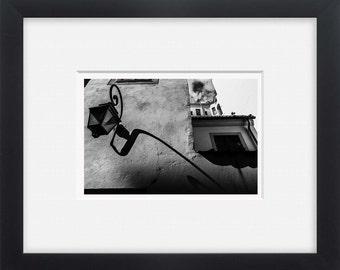 Riga, black and white street photography European art, wall art,photo print Latvia