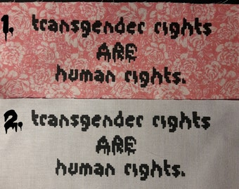 Transgender Rights ARE Human Rights Patches