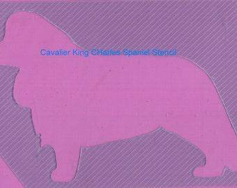 Puppy Bows ~ Cavalier King Charles Spaniel dog breed plastic craft stencil
