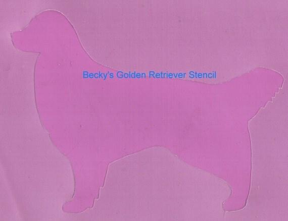 Puppy Bows ~ Golden Retriever  dog breed plastic craft stencil