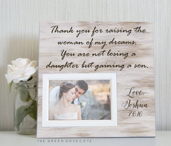 Wedding Gifts For Parents Of The Bride And Groom : Parents Wedding GiftGift From GroomWedding Thank You Gift ...