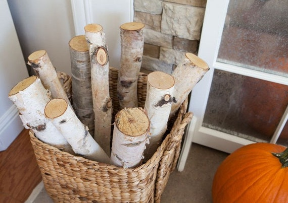 6 Birch Logs 20 39 39 White Birch Decor Birch Fireplace Logs Rustic Birc H Decor