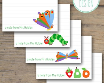 Hungry Caterpillar Flat Note Cards {Set of 10}