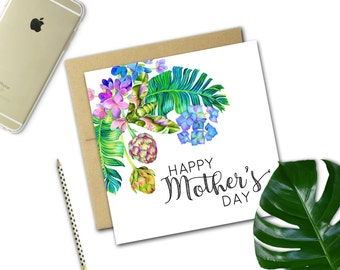 Mother's Day Card {TROPICAL BLOOMS}