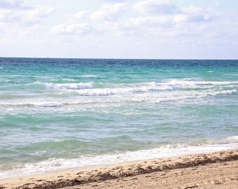 Beach Wall Art, Waves Print,  Beach print, Ocean Photo, Beach House Decor, Ocean photography, Fine Art Aqua Aquamarine Decor - The Atlantic