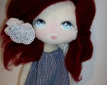 cloth doll, art doll, girl gift