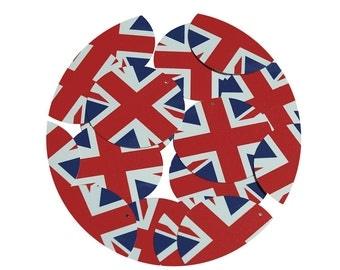 Sequin Union Jack British English Flag Great Britain Round 1.5 inch Paillettes Discs