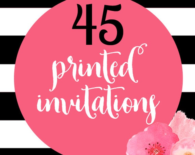 45 Printed Invitations With Envelopes
